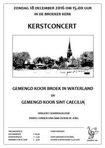 Flyer kerstconcert Broeker koor