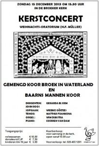 Kerstconcert 2013 met Baarns mannenkoor