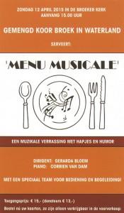 flyer Menu Musicale