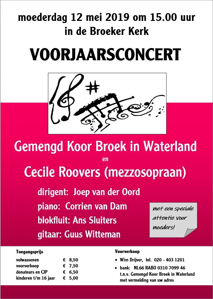 Poster voorjaarsconcert